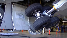 Landing gear swing test