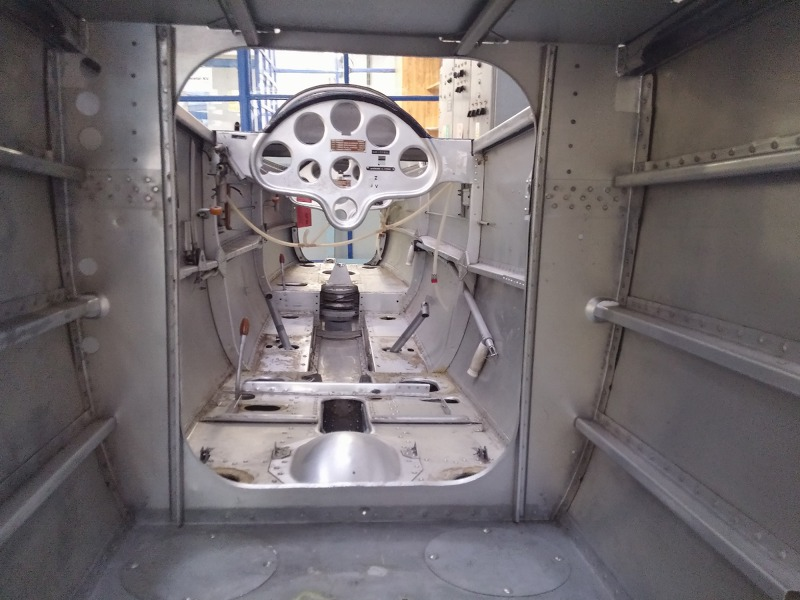 View through the fuselage before re-assembly.