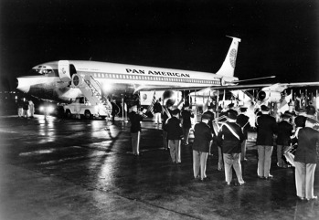 Boeing 707 Pan Am Clipper America na letišti v New Yorku. Zdroj: Pan American World Airways Inc.