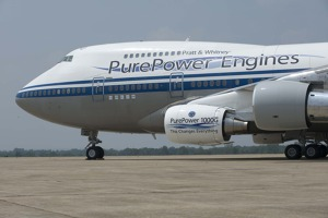 Purepower PW1000G engine first flight.