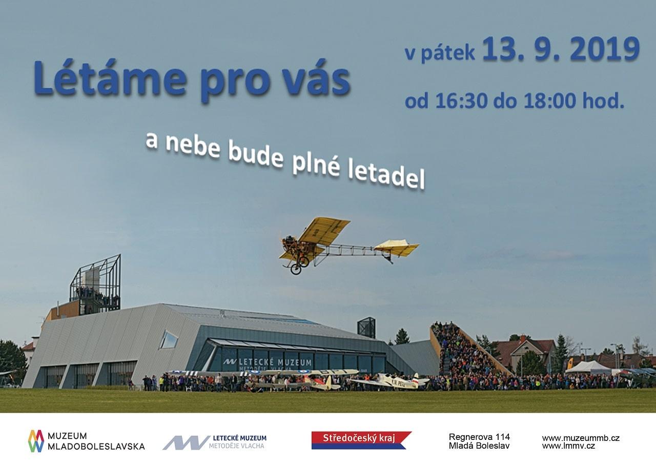 Ze života čs. letišť: V Boleslavi dnes budou létat exponáty Muzea Metoděje Vlacha. Přijeďte se podívat