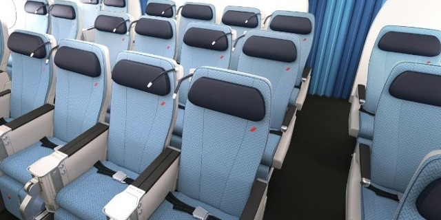 Pohled do Premium Economy A350-900 Air France. Zdroj: Air France