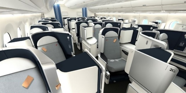 Pohled od Business Class A350-900 Air France. Zdroj: Air France