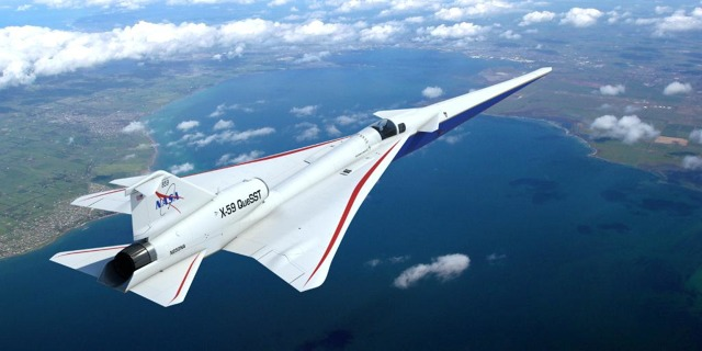 X-59 QueSST neboli Quiet Supersonic Technology vyvíjí NASA a Lockheed Martin. Zdroj: NASA