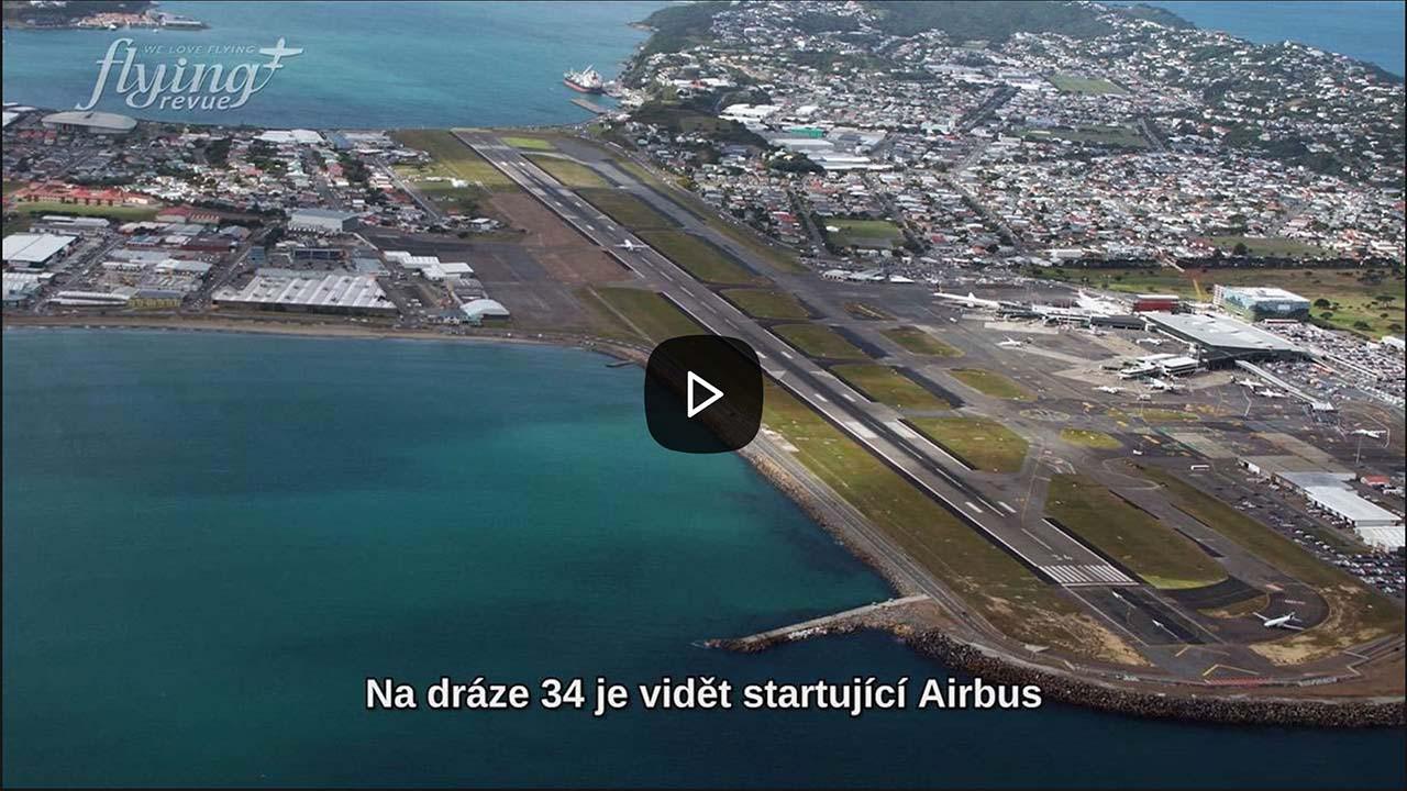 Jediné dopravní letiště, jehož dráha začíná a končí v moři: Wellington